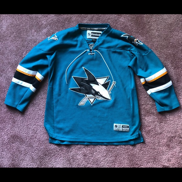 wholesale dealer ad284 29ae8 San Jose Sharks Jersey Youth XL Authentic Reebok